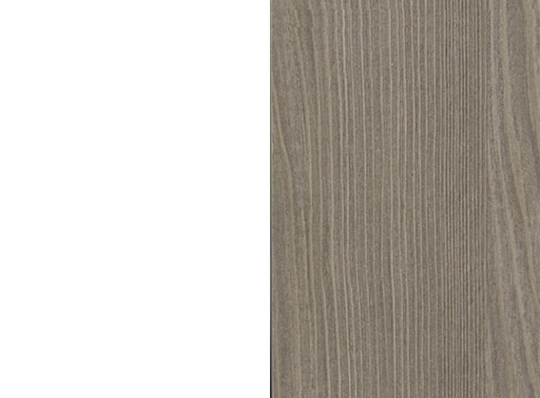 Gestell weiß/Platte grey wood