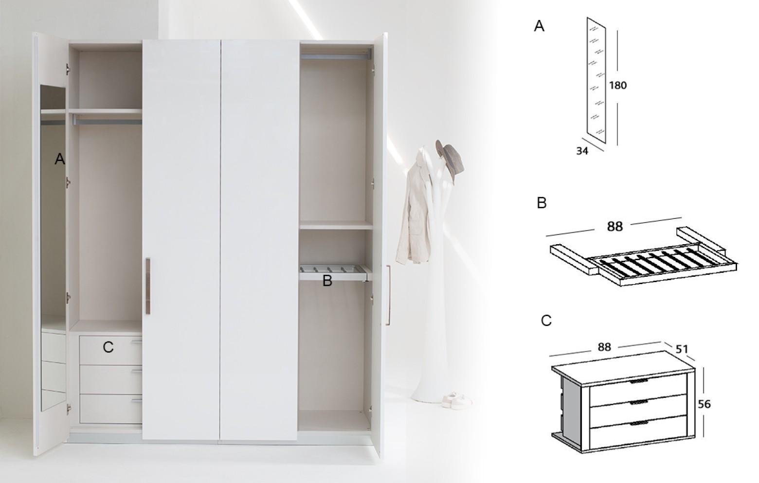 Anspruchsvoll Kleiderschrank Mit Innenausstattung Galerie Von Img