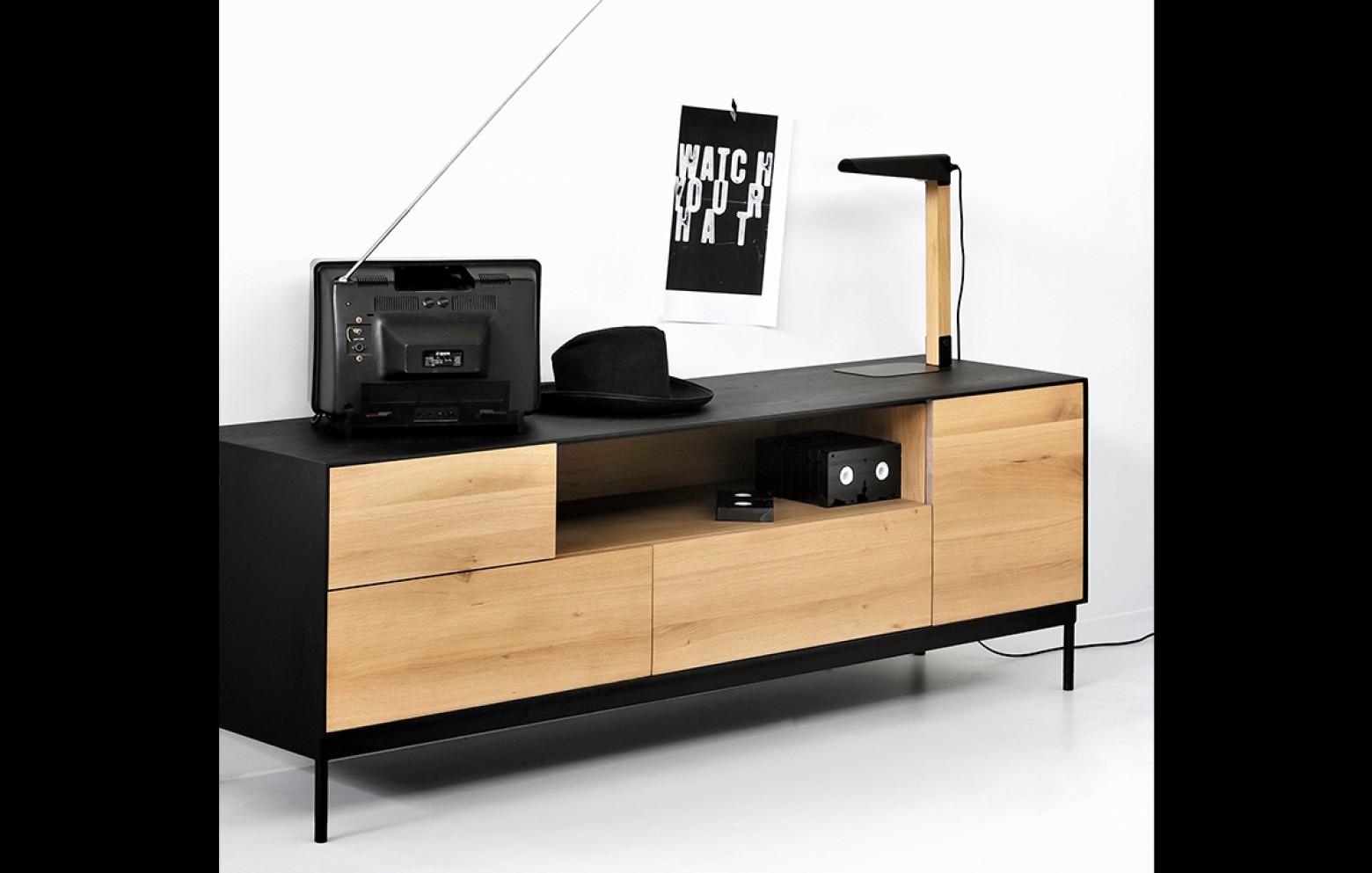 oak blackbird tv lowboard tv m bel sideboards. Black Bedroom Furniture Sets. Home Design Ideas