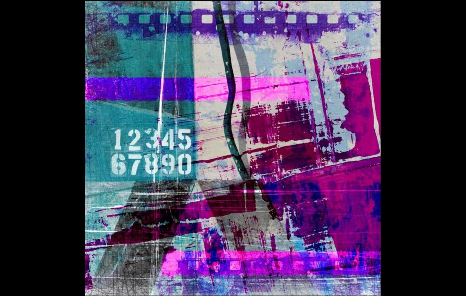 Purple Abstract Wandbild Bilder Kleinmobel Accessoires