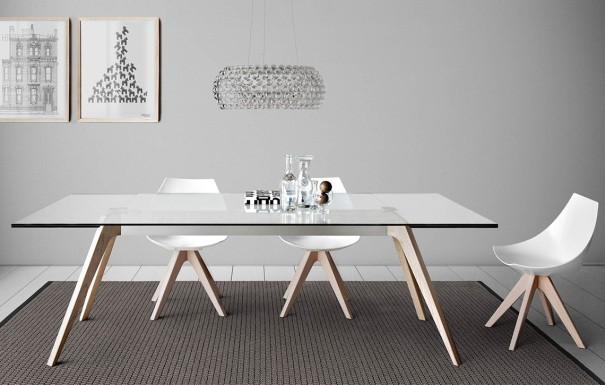 Esstisch Glas Holz Design Designer Esstische